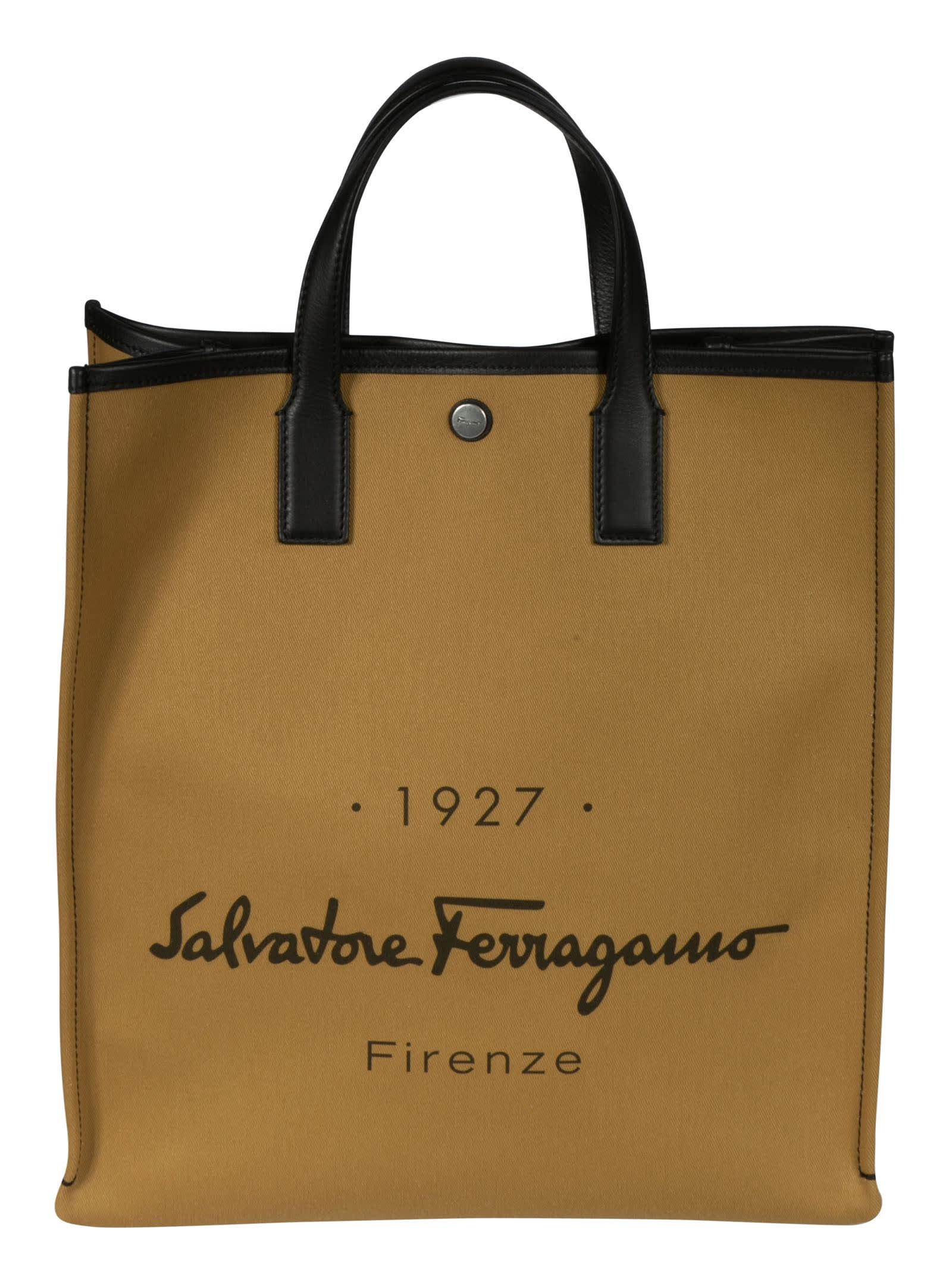Salvatore Ferragamo Pvcs SIGNATURE LOGO SHOPPER BAG