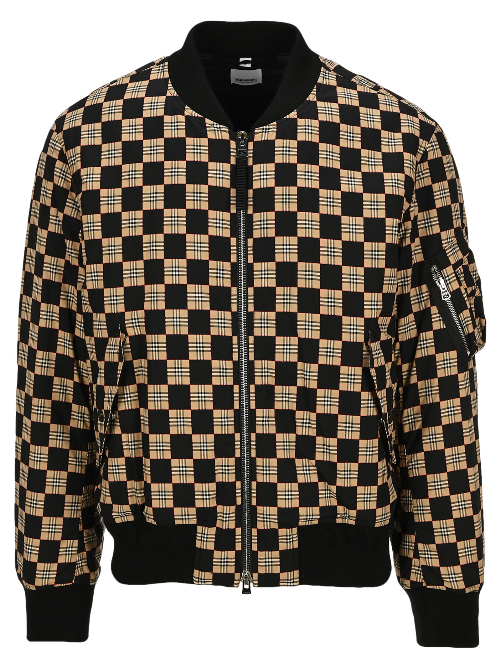 Burberry Cottons CHEQUER COTTON BOMBER JACKET