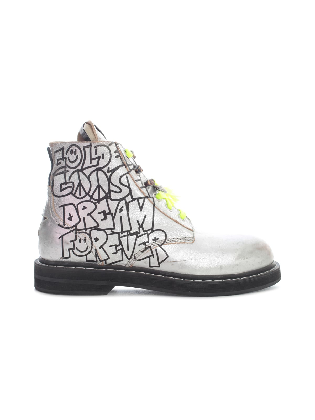 Buy Golden Goose Ele Laminated Leather Upper Dream Forever Signature online, shop Golden Goose shoes with free shipping