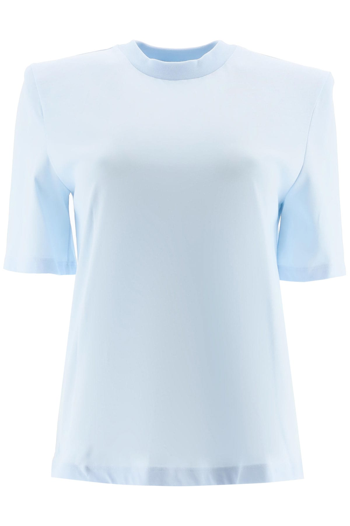 The Attico Bella T-shirt With Padded Shoulders