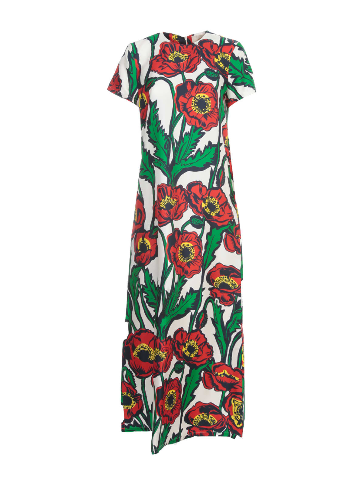La DoubleJ Swing Long Dress S/s Crew Neck Fantasy