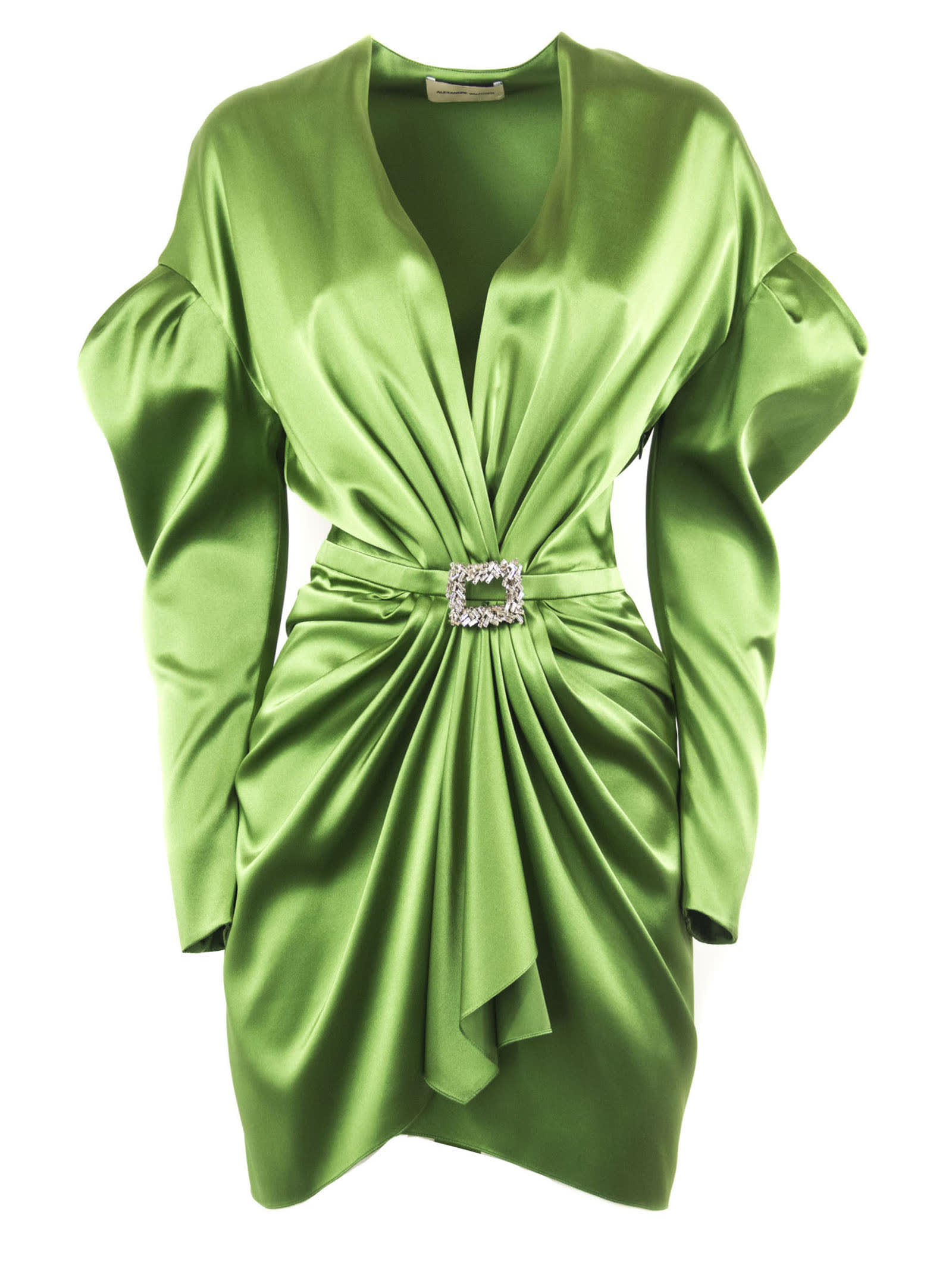 Alexandre Vauthier Green Silk Blend Mini Dress