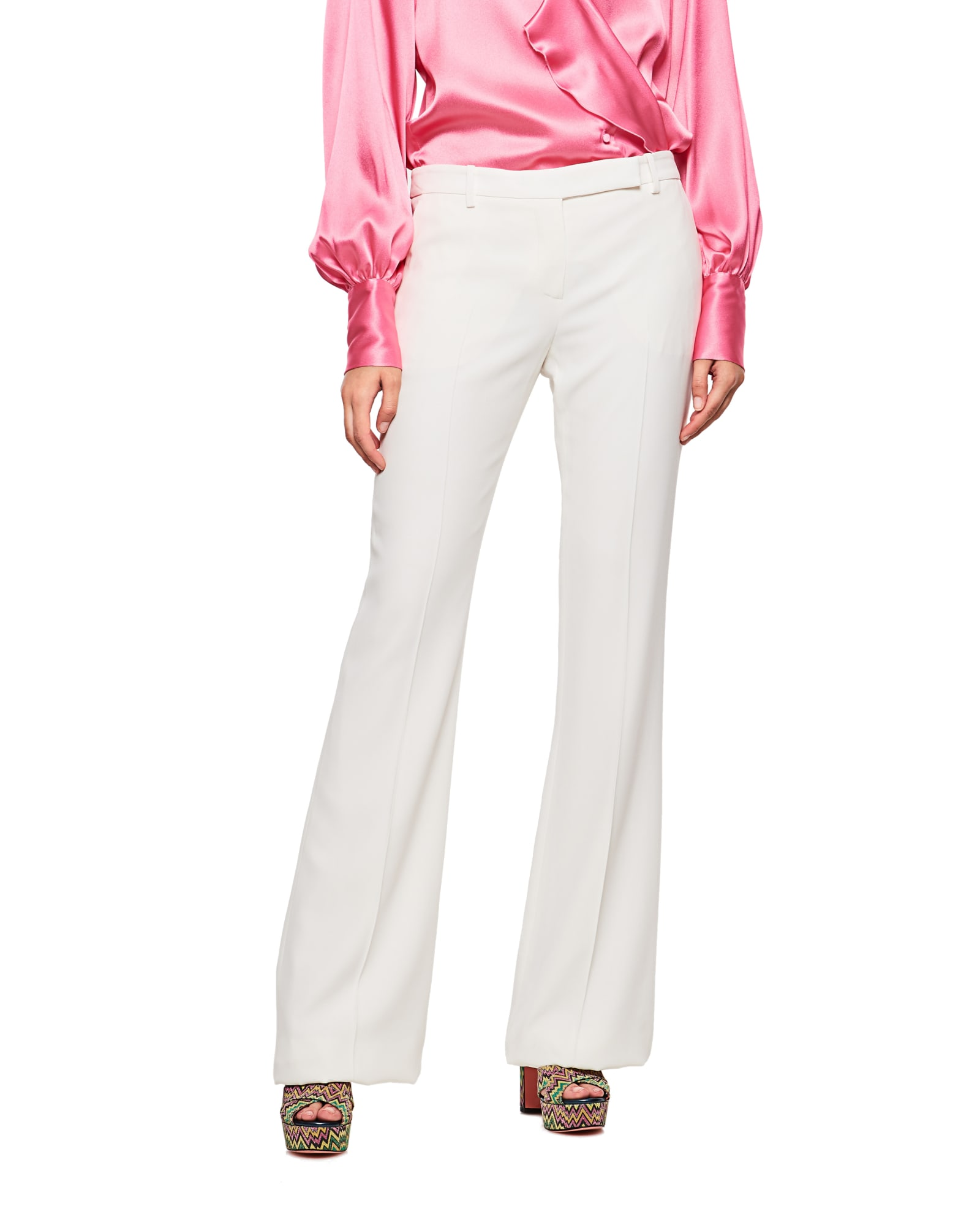 Alexander Mcqueen Pants MID -RISE FLARED PANTS