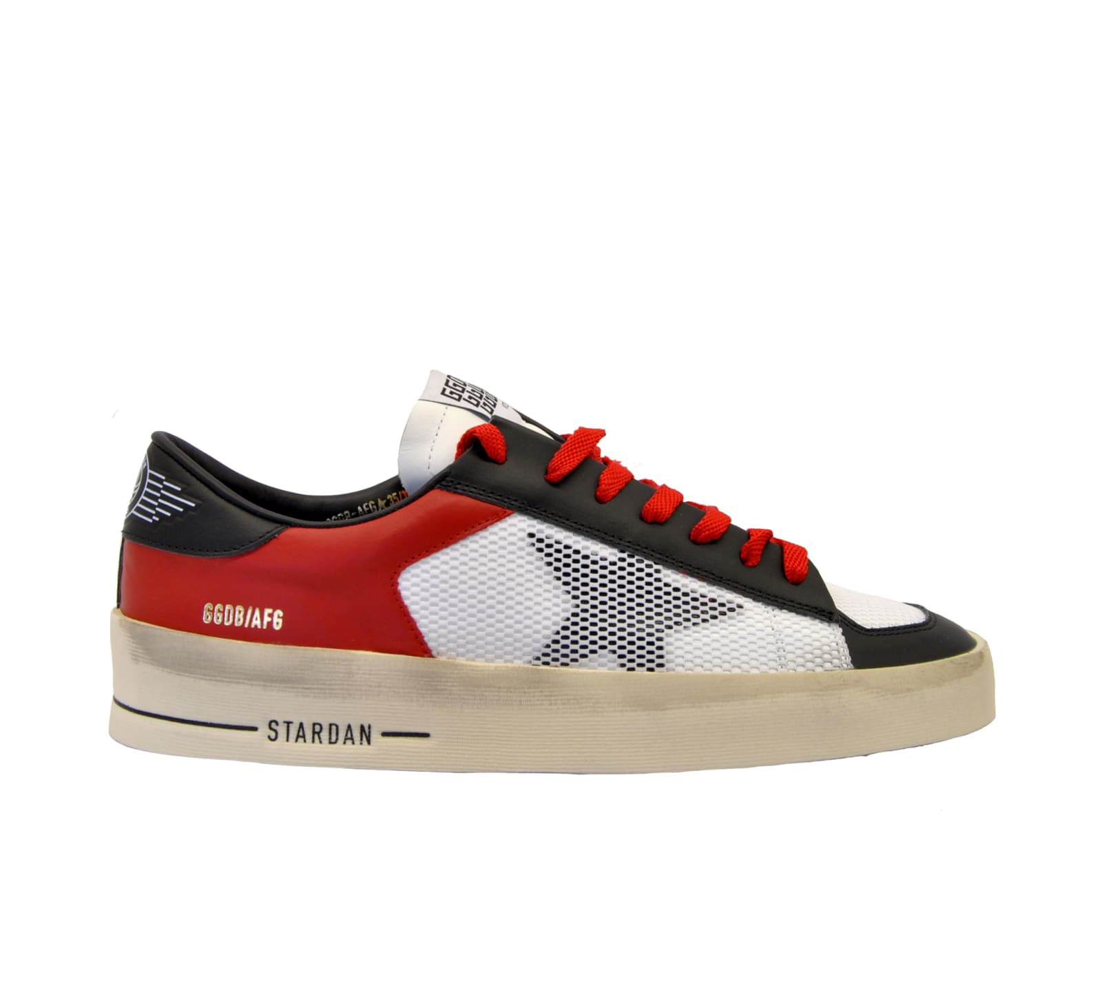 outlet store a79d8 fc652 Golden Goose Sneakers Stardan Rosso Nero Bianco In Red White ...