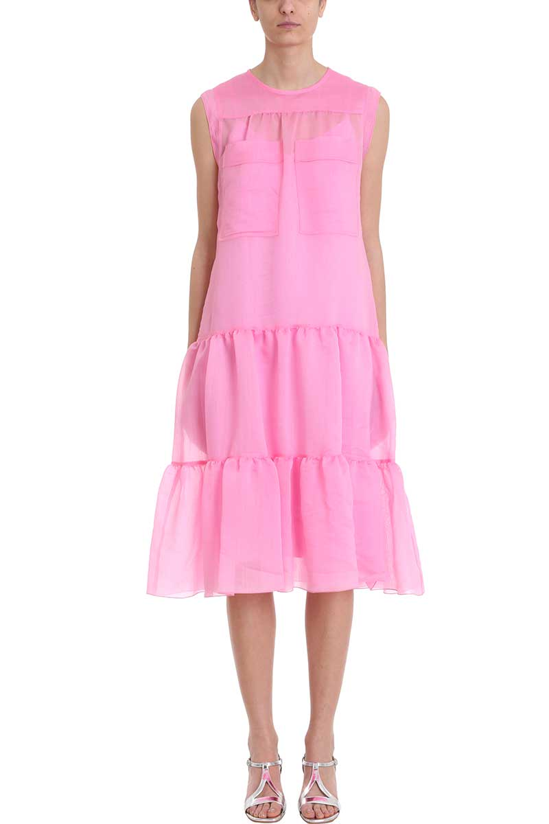 Photo of  See by Chloé Tiered Sleeveless Midi Dress- shop See by Chloé  online sales