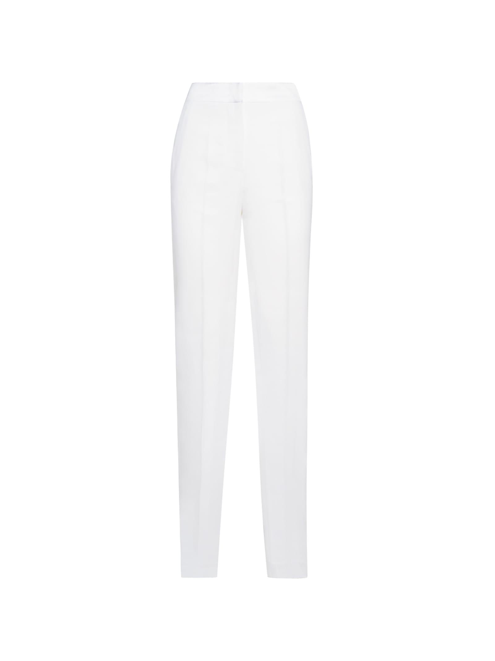 White Viscose Trousers