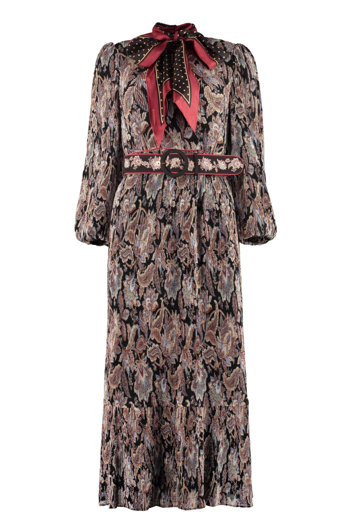 Zimmermann Belted Midi Dress