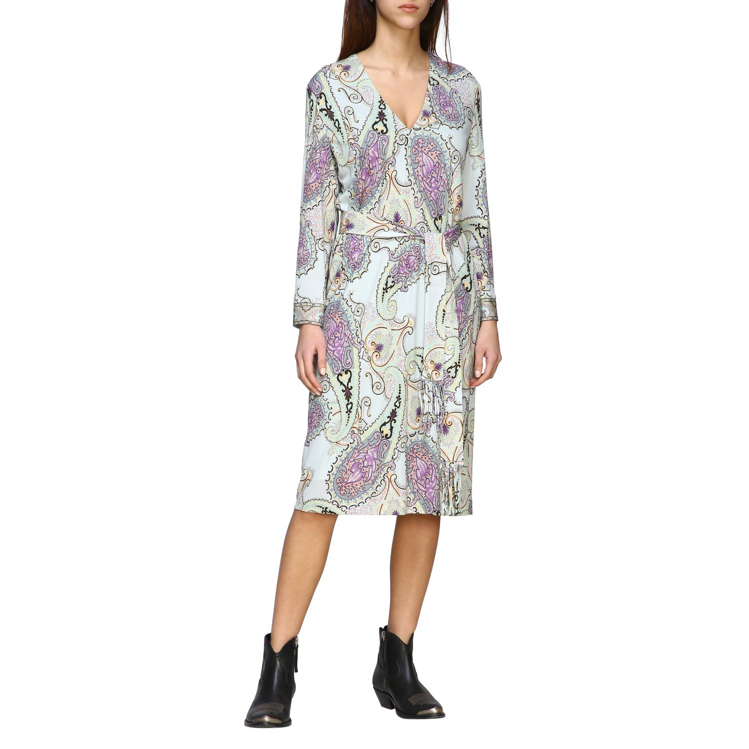 Buy Etro Dress Etro Jersey Dress With Paisley Print online, shop Etro with free shipping