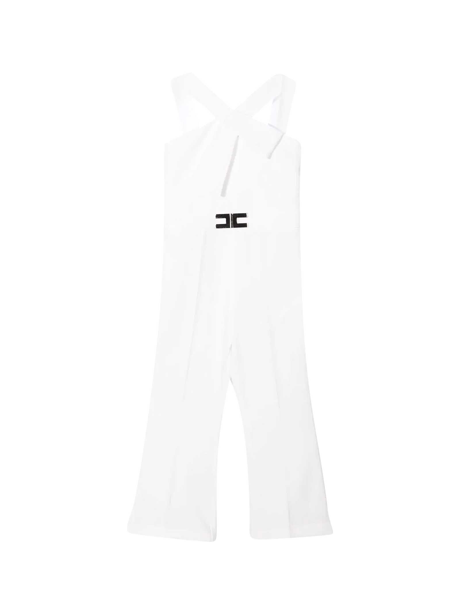 Elisabetta Franchi La Mia Bambina Jumpsuits WHITE JUMPSUIT