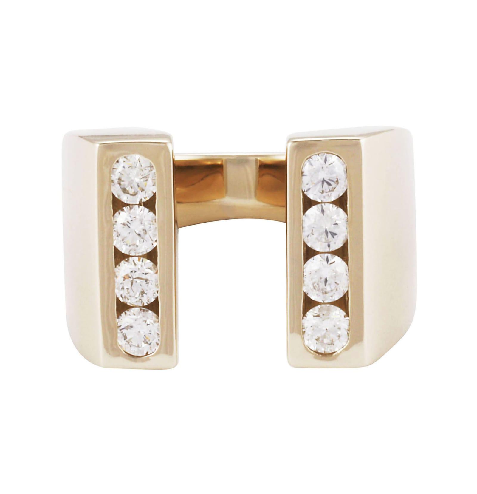 Lo Spazio Diamond U Ring