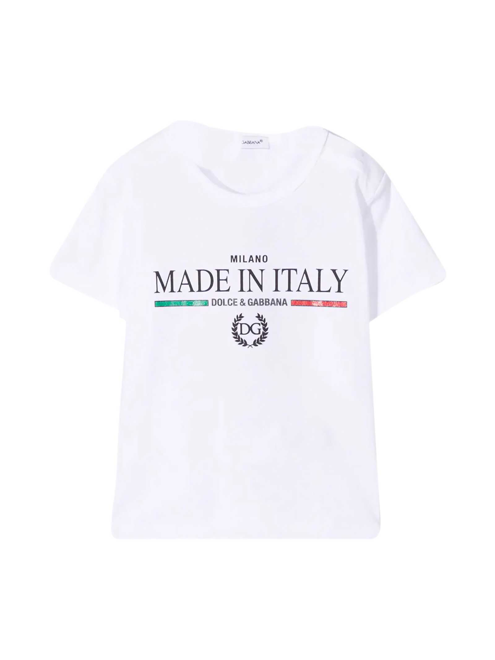 Dolce & Gabbana Tops WHITE T-SHIRT