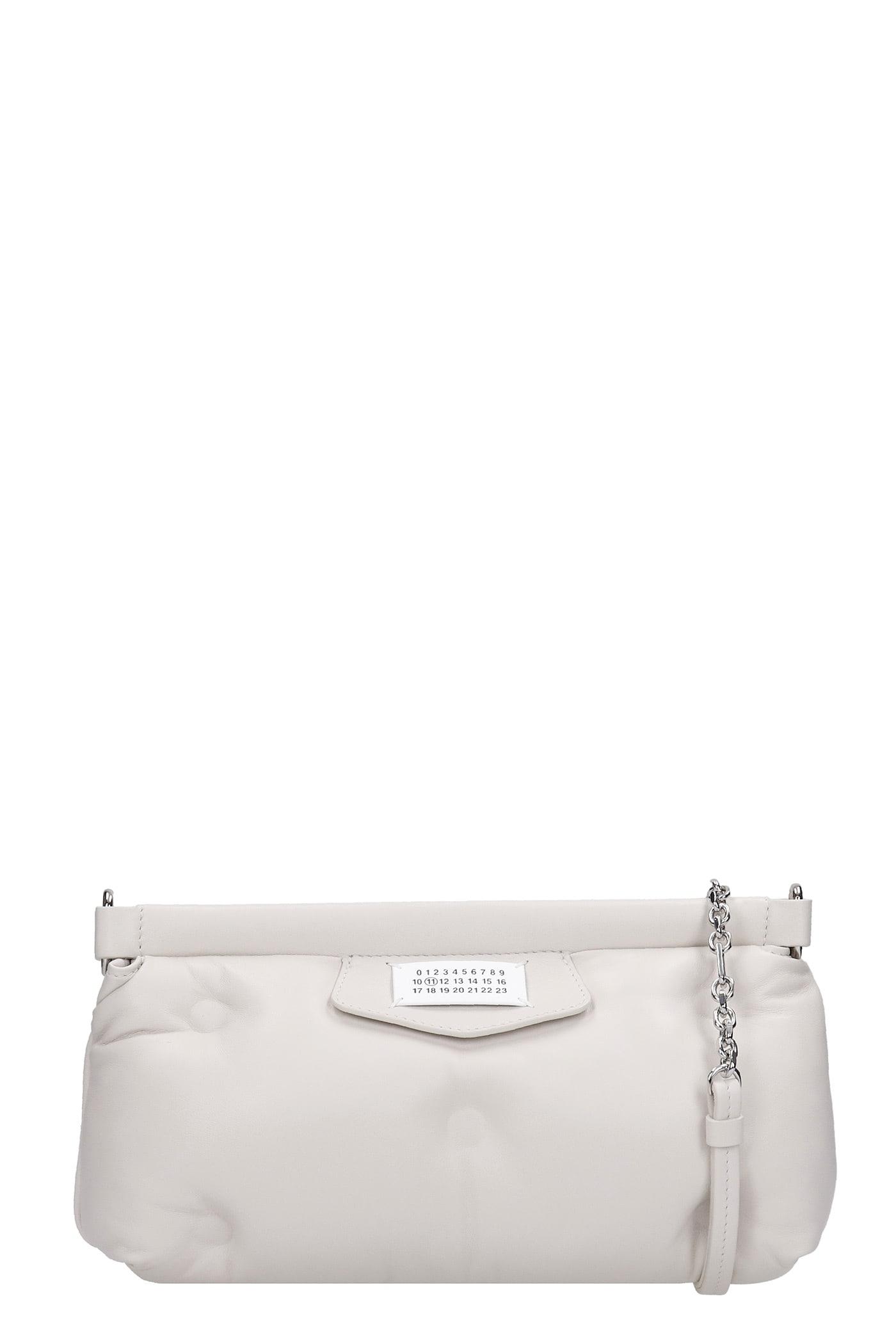 Maison Margiela Clutch In White Leather