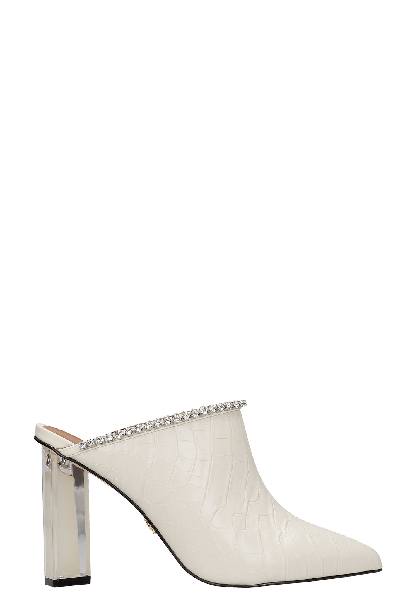 Blare Sandals In Beige Leather