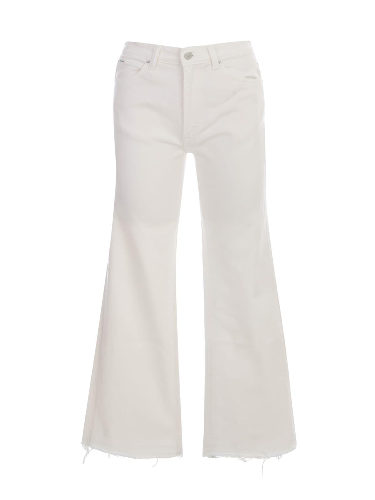 Polo Ralph Lauren Short Flared Jeans W/fringes