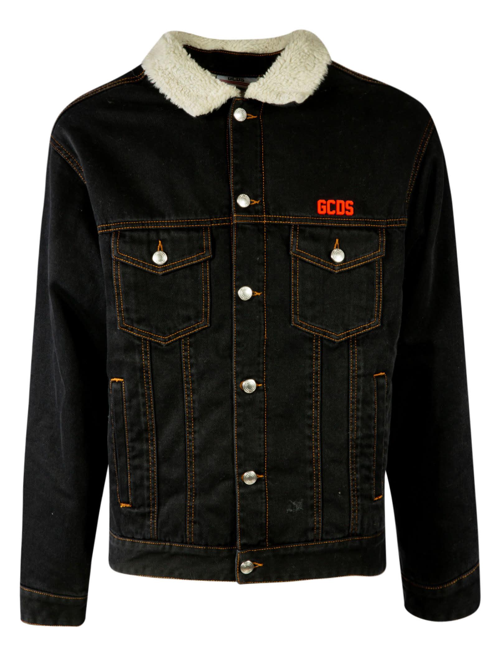 GCDS Denim Buttoned Jacket