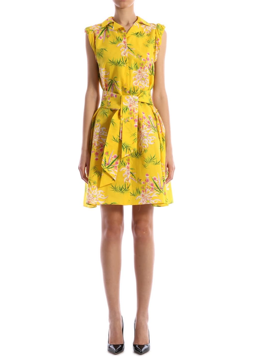 Buy Kenzo Multicolor Floral Dress Yellow online, shop Kenzo with free shipping
