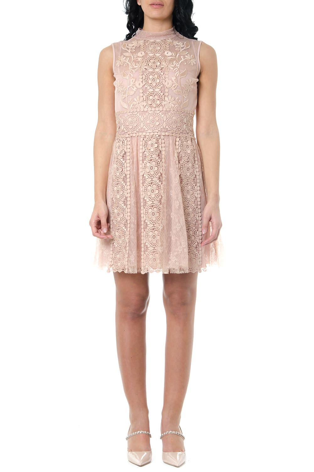 Buy RED Valentino Floral Embroidery Tulle And Lace Dress online, shop RED Valentino with free shipping