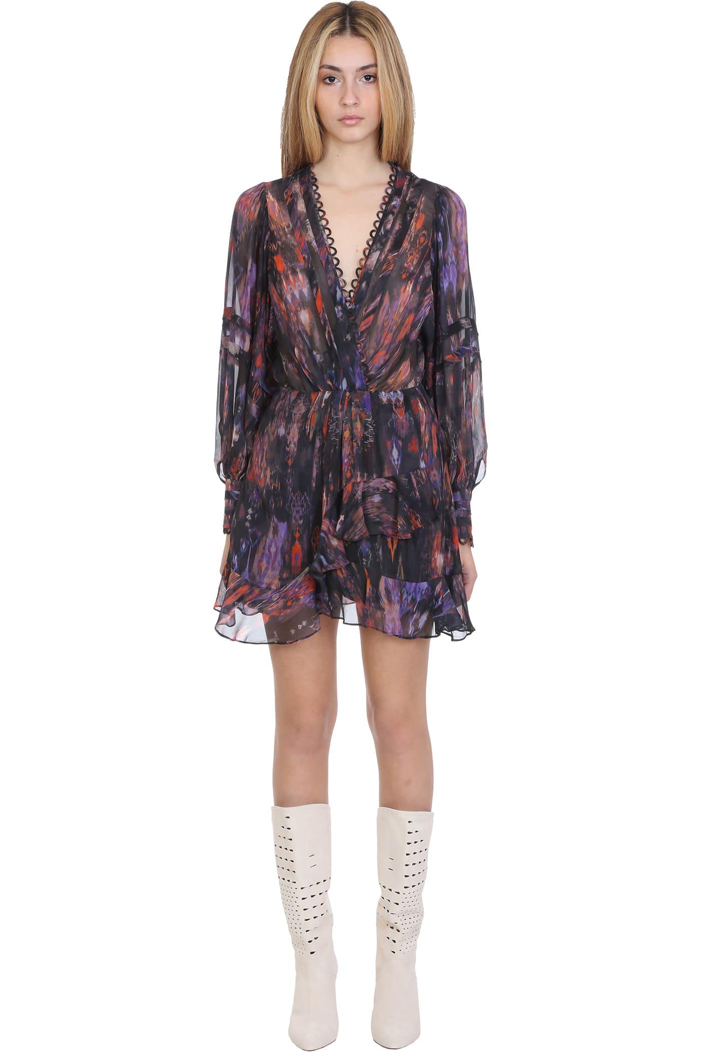 Buy IRO Kolmi Dress In Black Polyester online, shop IRO with free shipping
