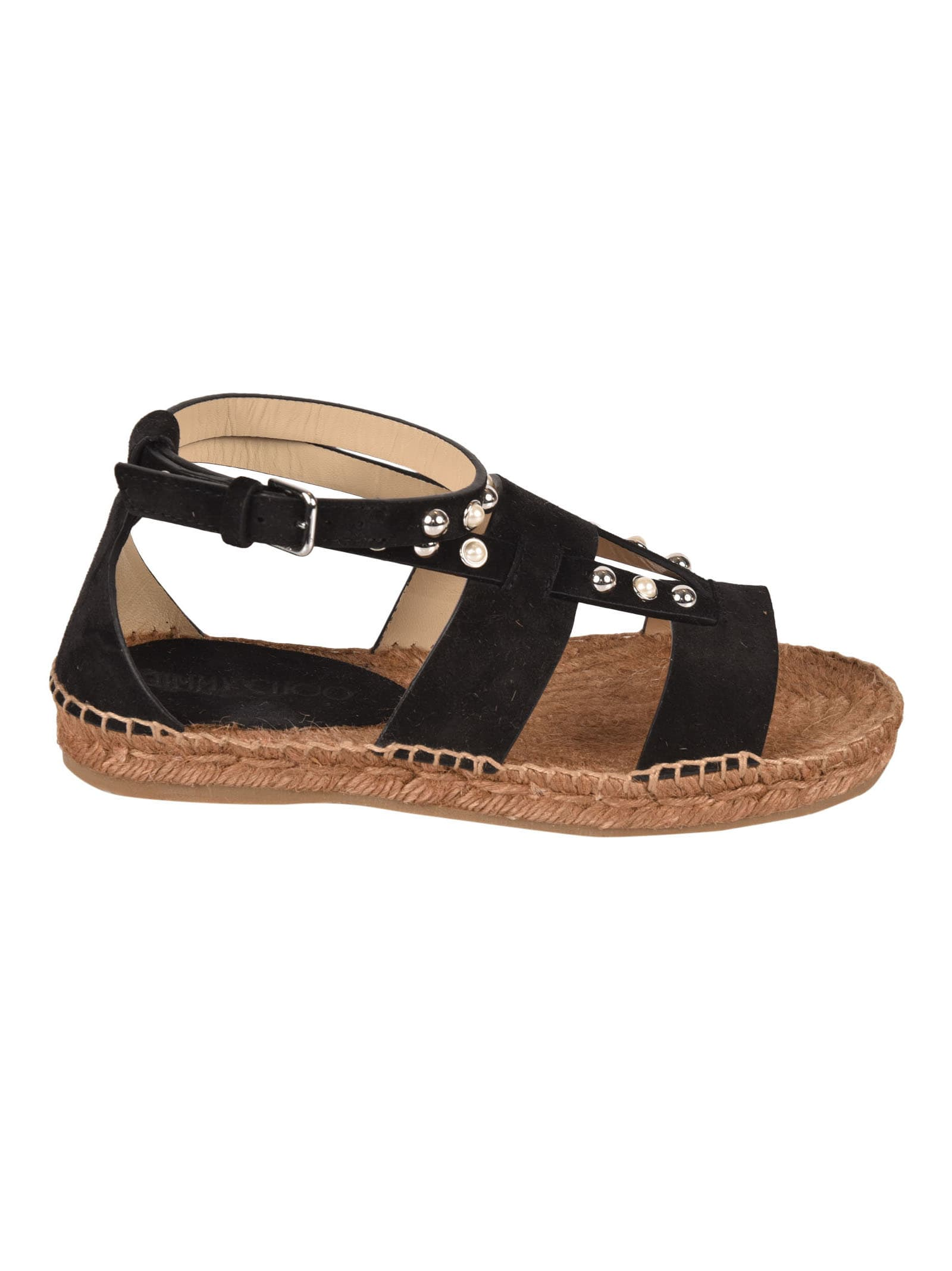 Buy Jimmy Choo Denise Flat Sandals online, shop Jimmy Choo shoes with free shipping