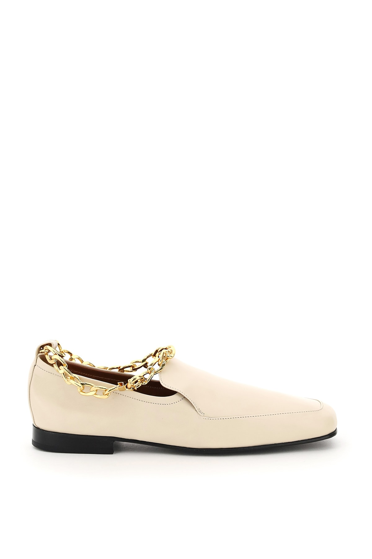 By Far Leathers NICK LOAFERS WITH CHAIN