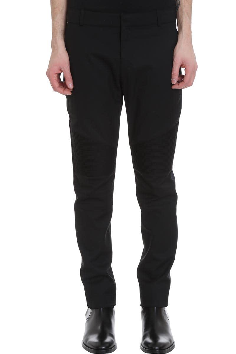 Balmain Pants In Black Cotton