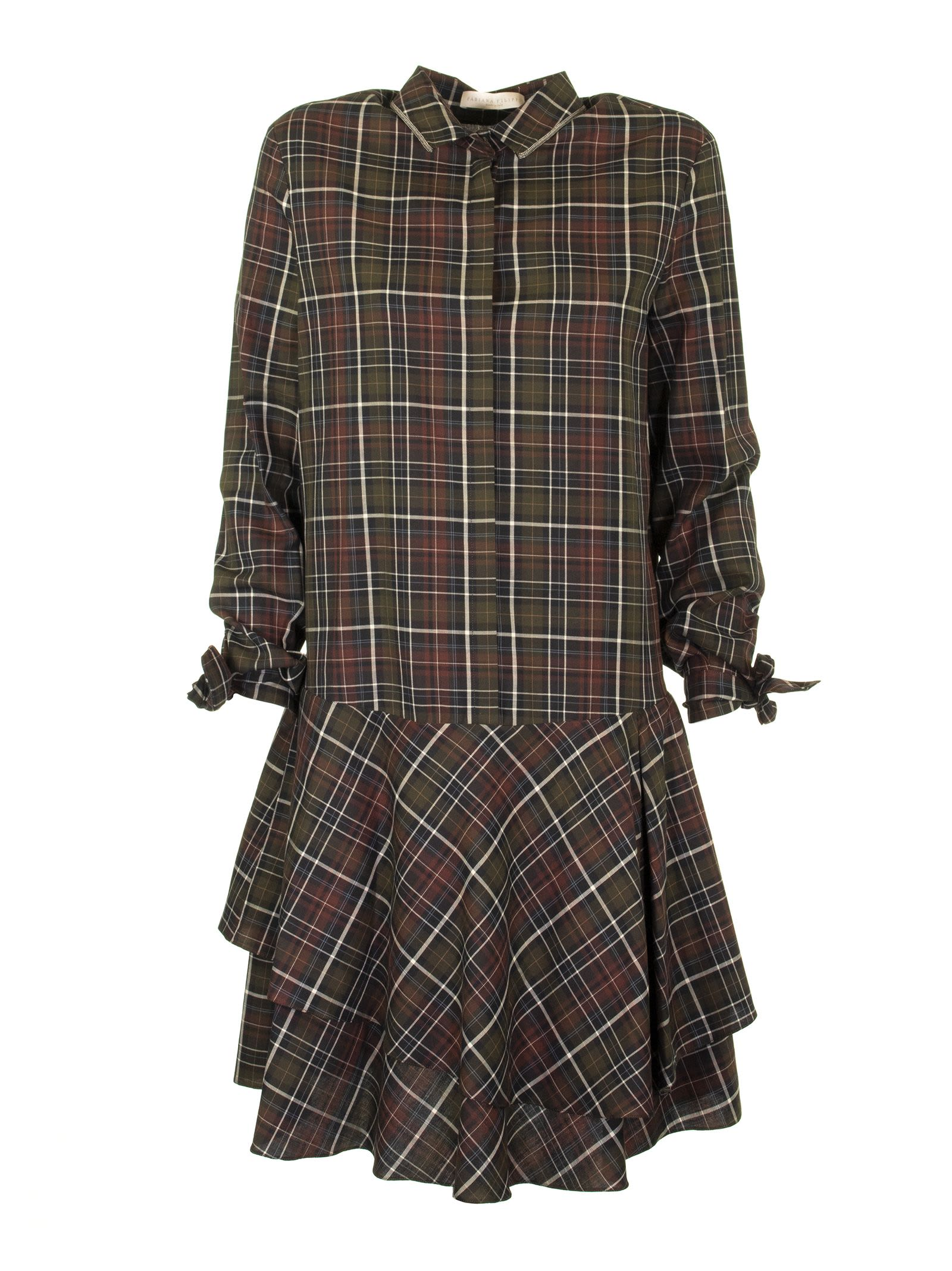 Fabiana Filippi Cotton Dress Check