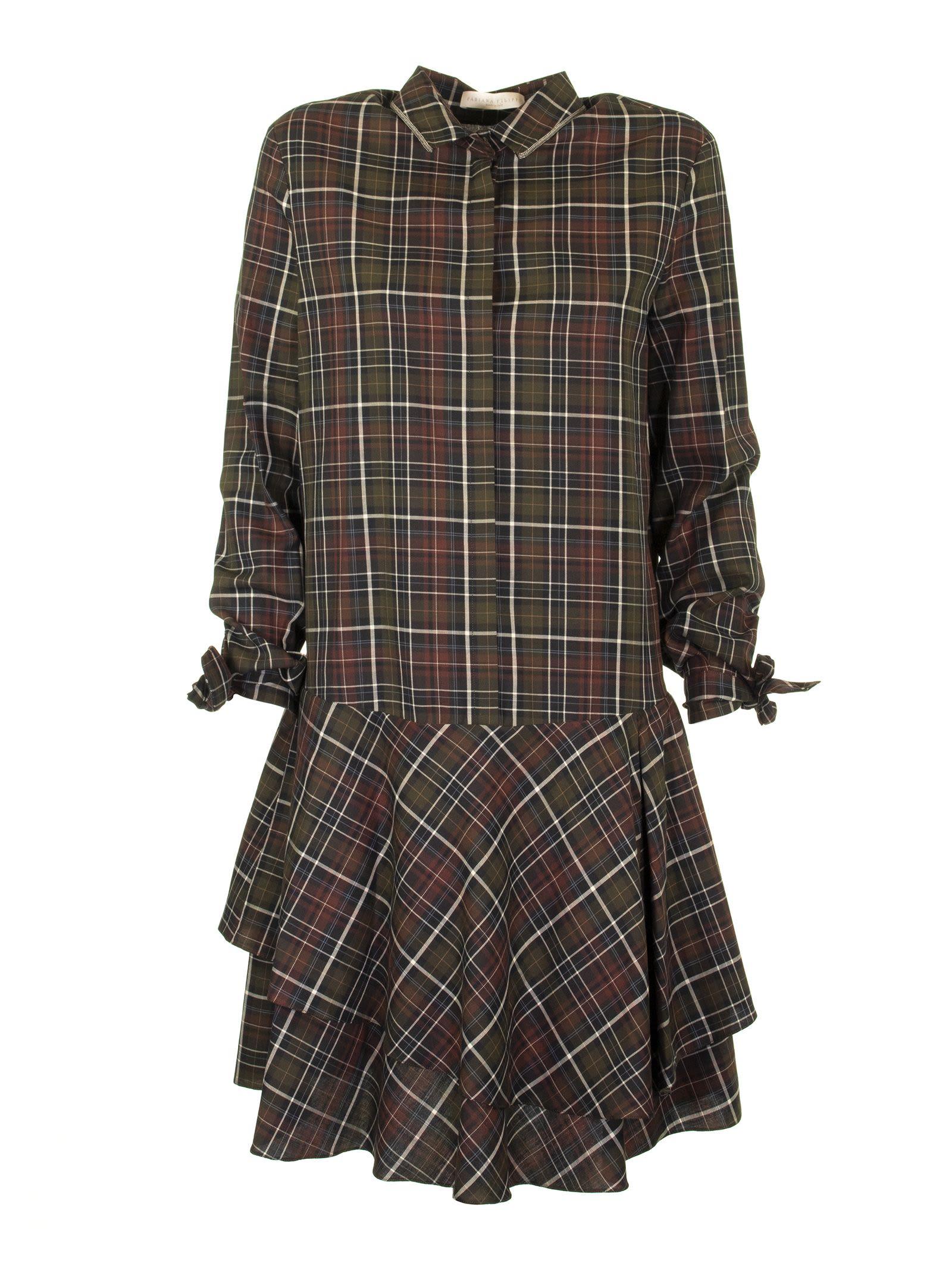 Fabiana Filippi Cotton Dress Check