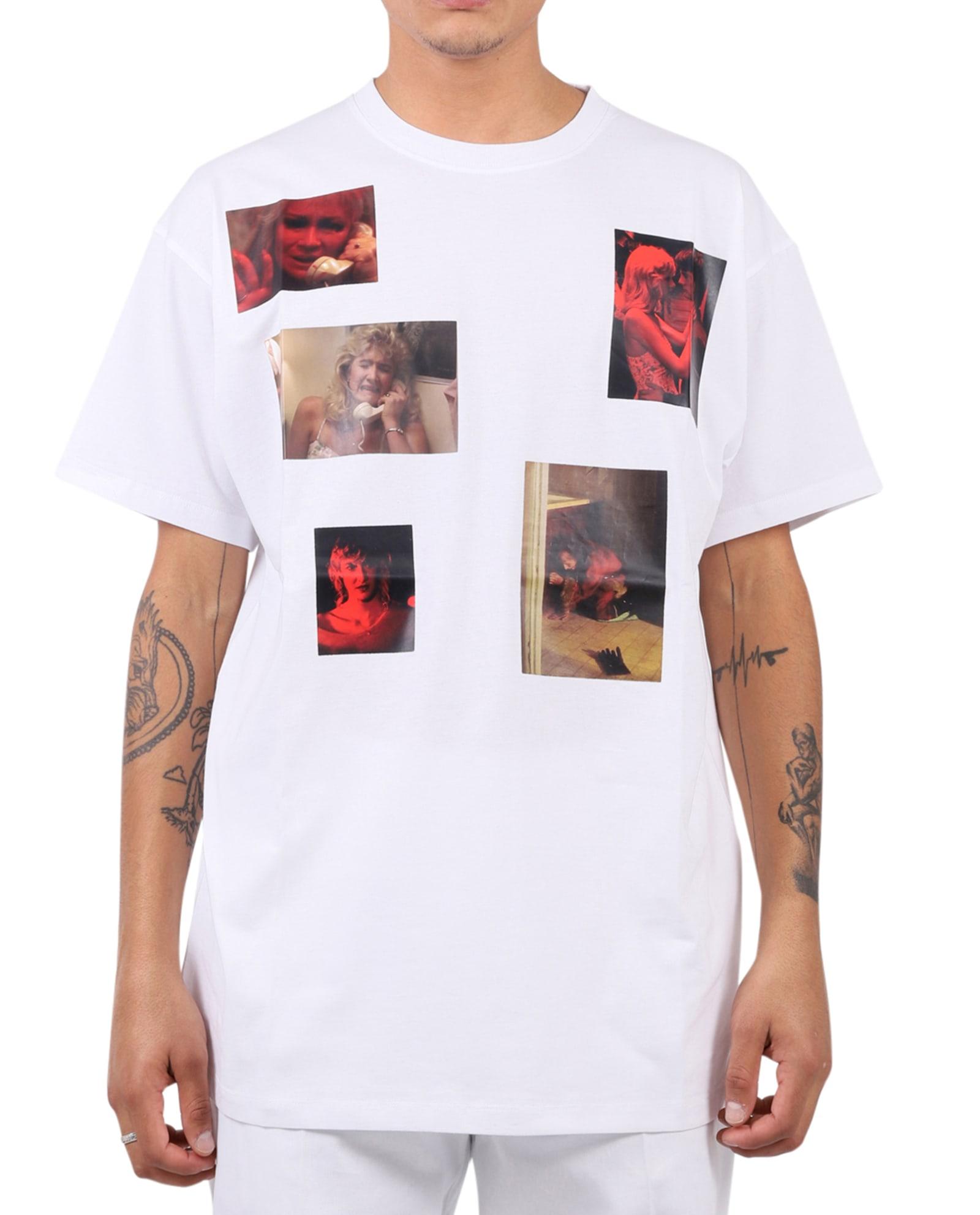 Raf Simons T-shirts WHITE LAURA DERN T-SHIRT