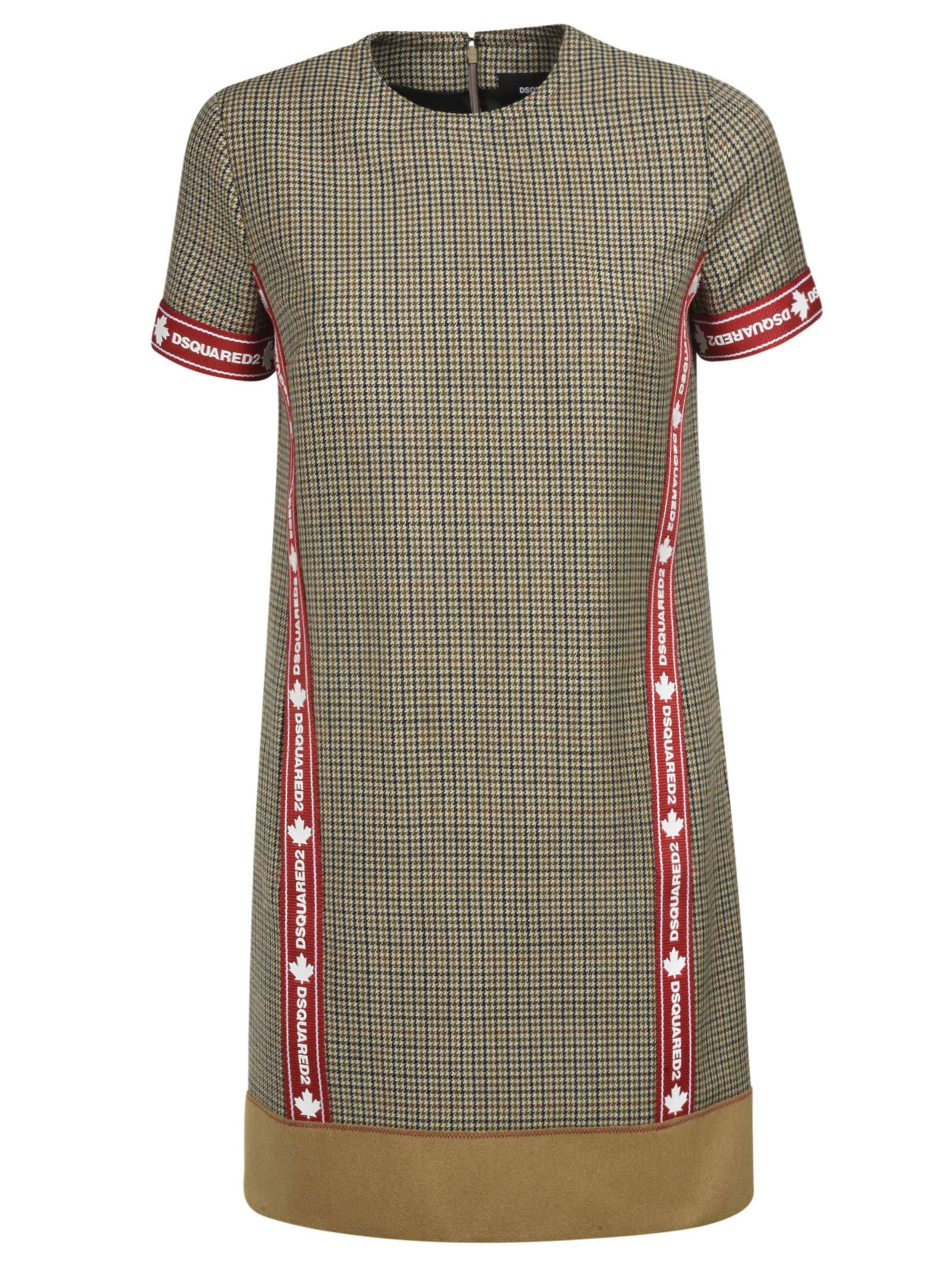 Buy Dsquared2 Short Back Zip Dress online, shop Dsquared2 with free shipping