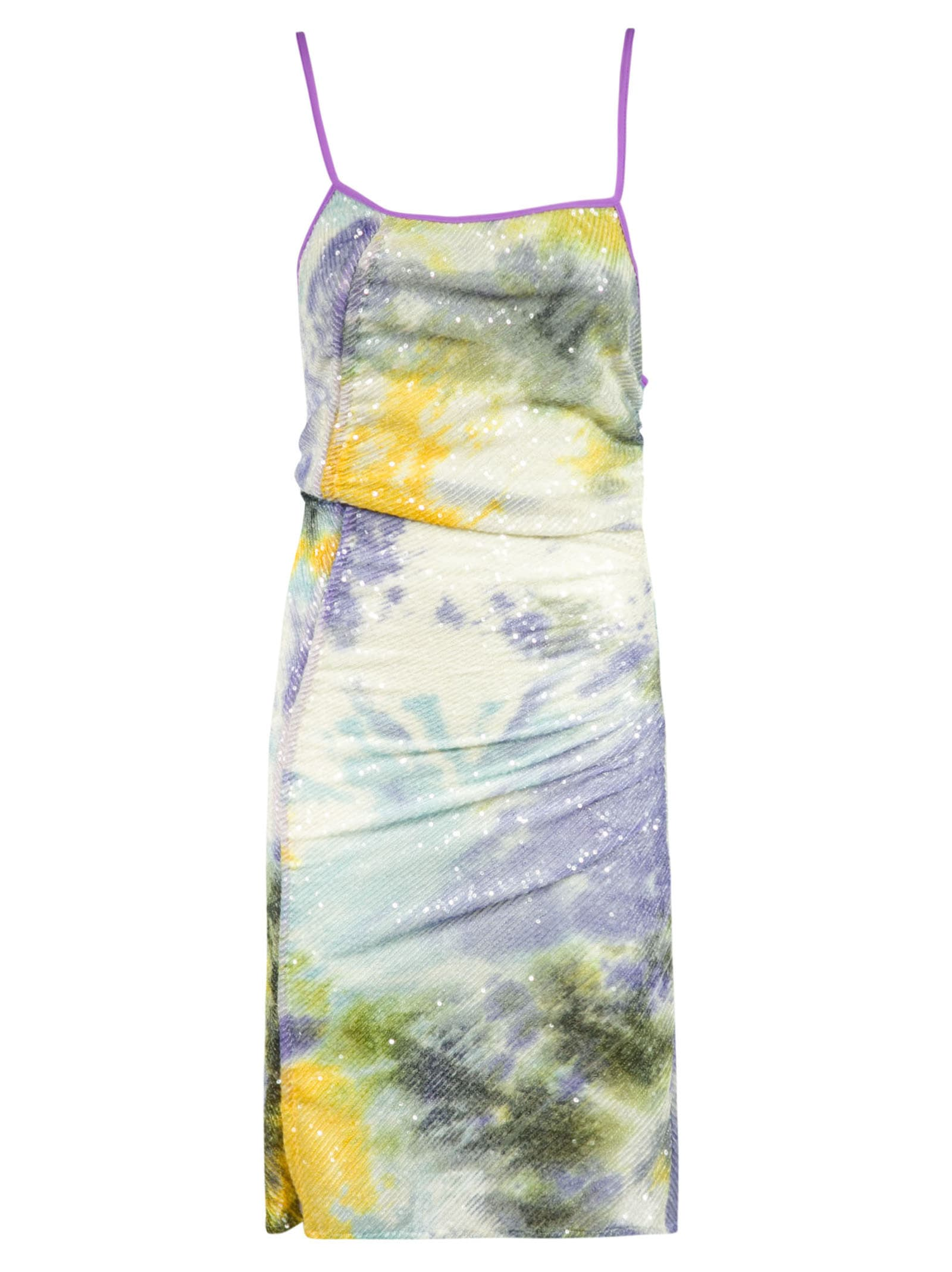 Buy GCDS Sequin Detailed Printed Dress online, shop GCDS with free shipping