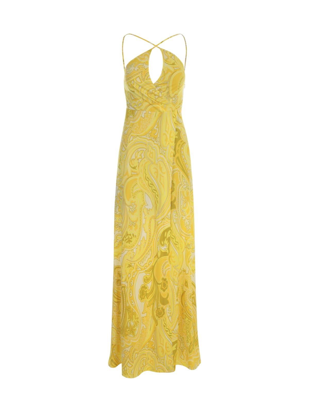 Buy Etro Skyatos Jersey Long Printed Dress online, shop Etro with free shipping