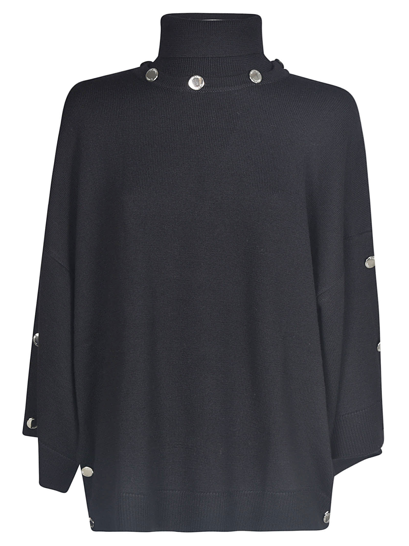 Moschino Roll Neck Embellished Jumper