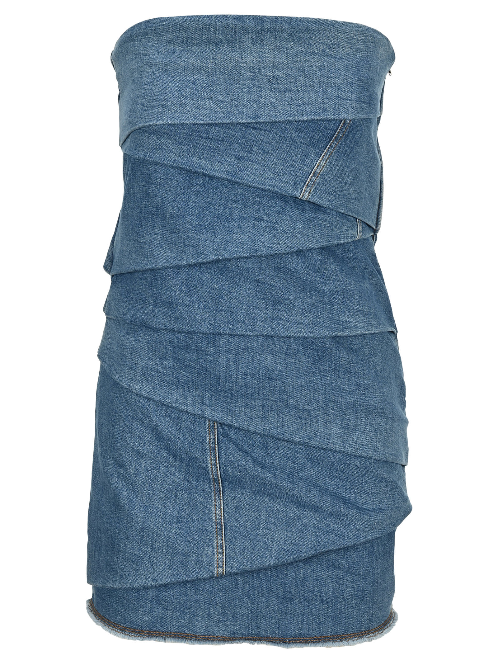 Buy Philosophy Denim Bustier Mini Dress online, shop Philosophy di Lorenzo Serafini with free shipping