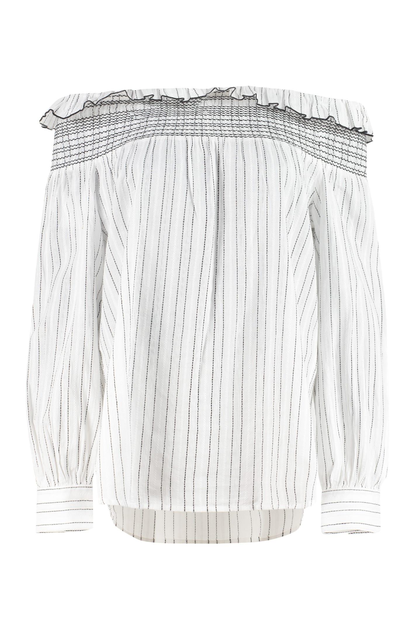 Pinko Clothing AFFRANTO STRIPED COTTON BLOUSE