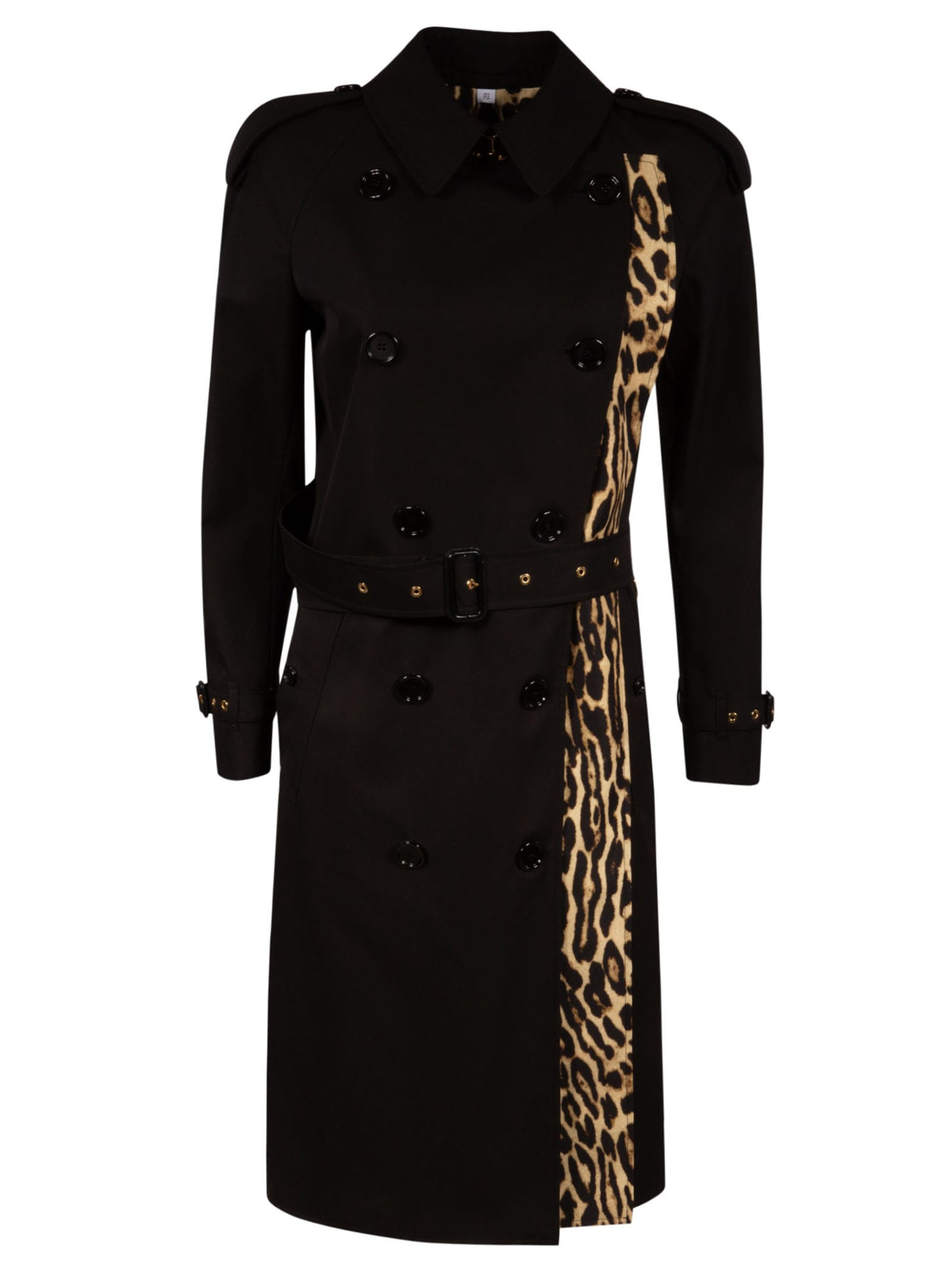 Burberry Double-breasted Side Animal Print Trench