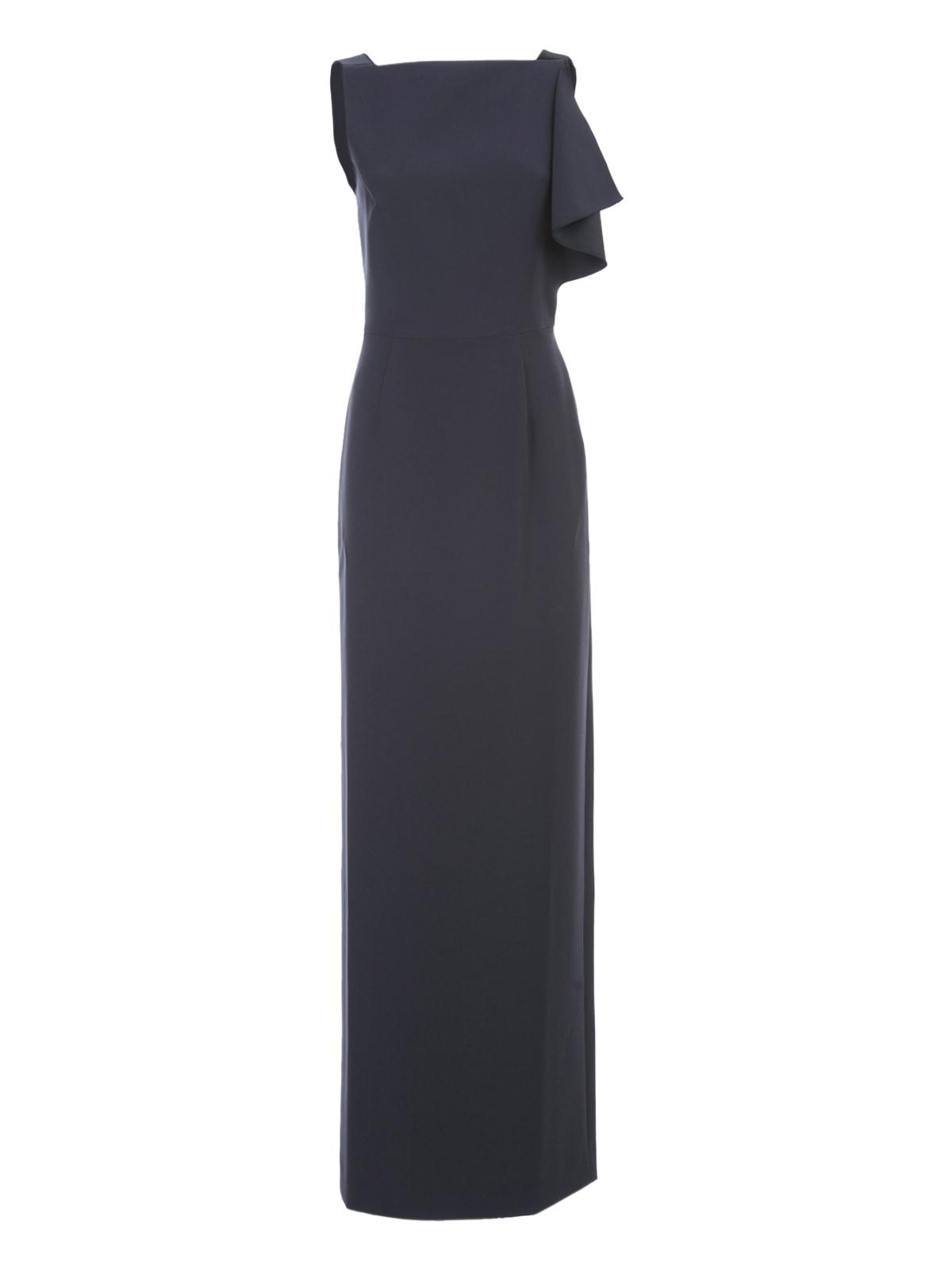 Buy Emporio Armani Maxi Dress Satin Cady online, shop Emporio Armani with free shipping