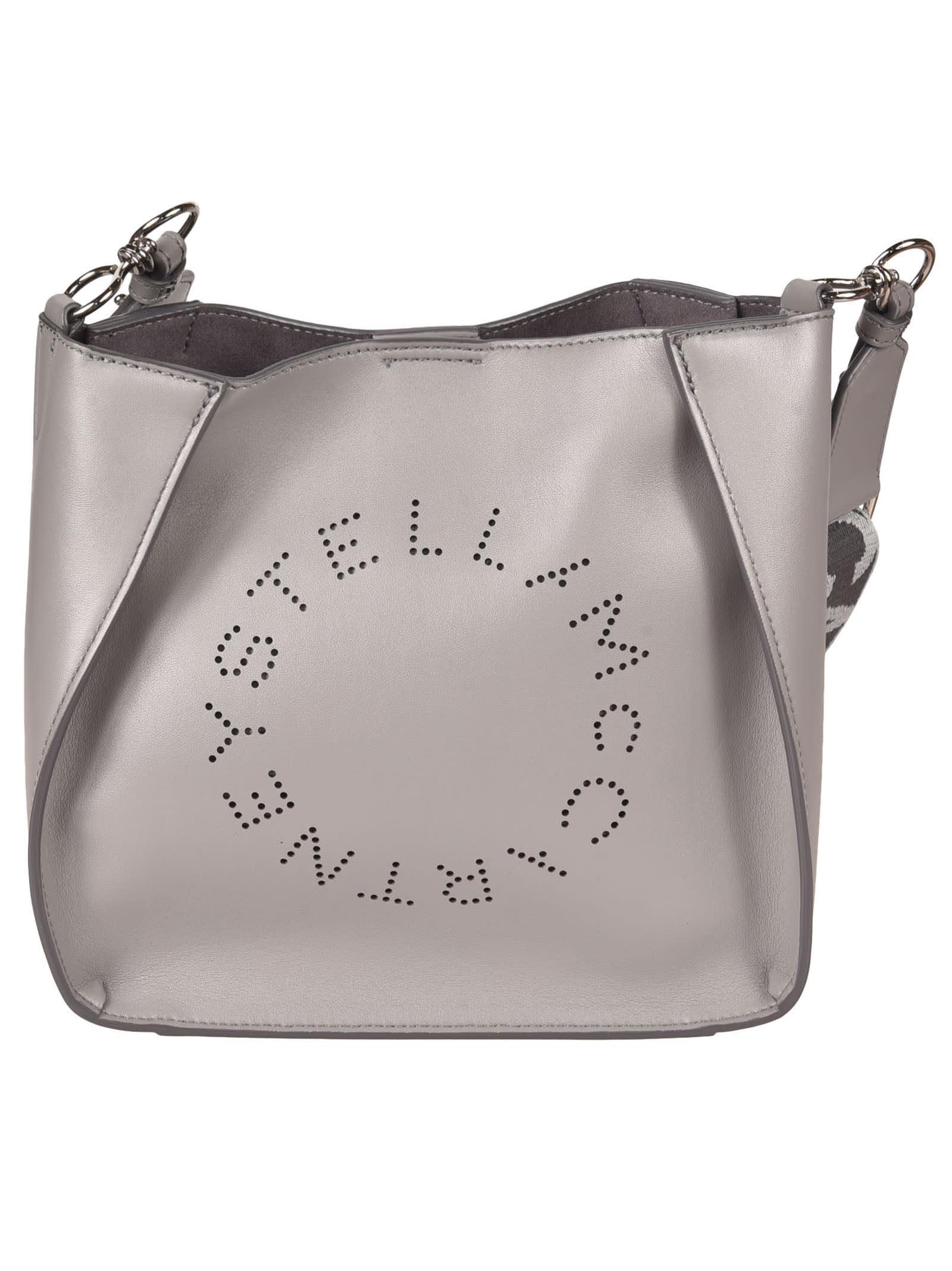 Stella Mccartney Mini Logo Crossbody Bag In Smoke