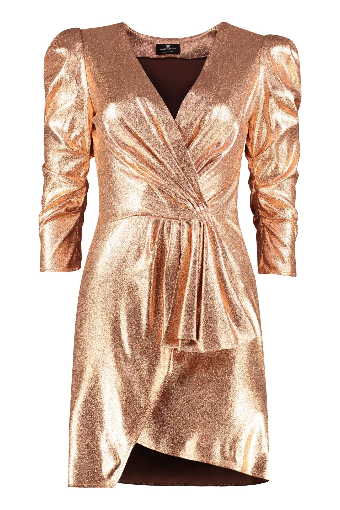 Buy Elisabetta Franchi Wrap-dress online, shop Elisabetta Franchi with free shipping