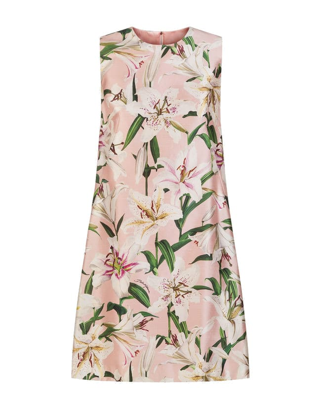 Dolce & Gabbana Sleeveless Dress With Lily Print