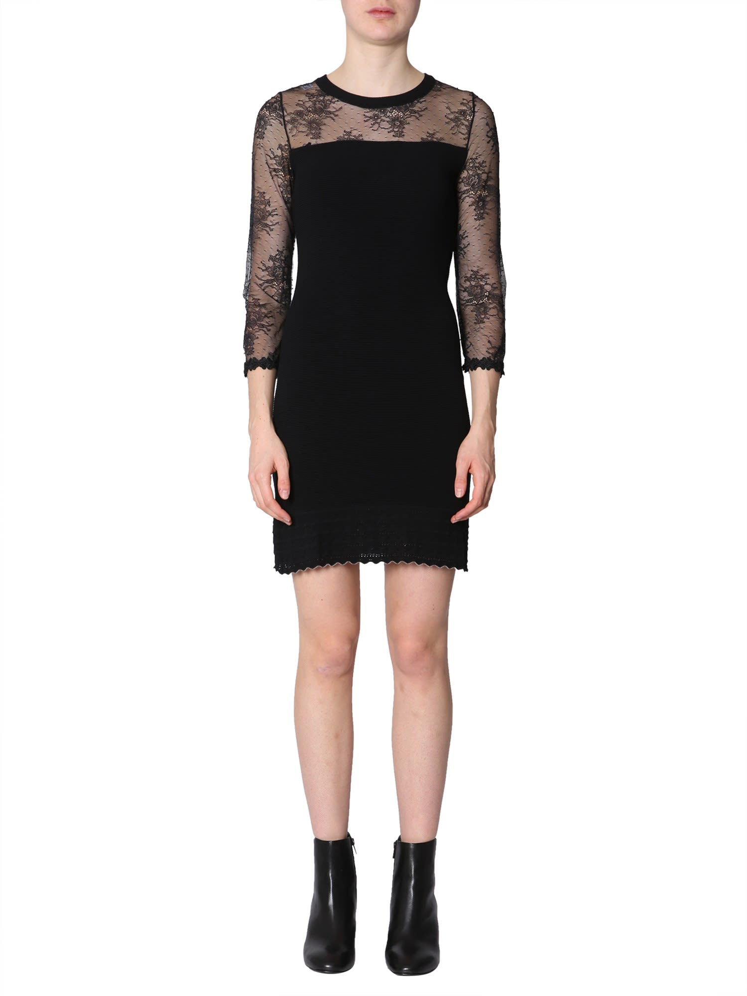 Boutique Moschino Dress With Lace Insert
