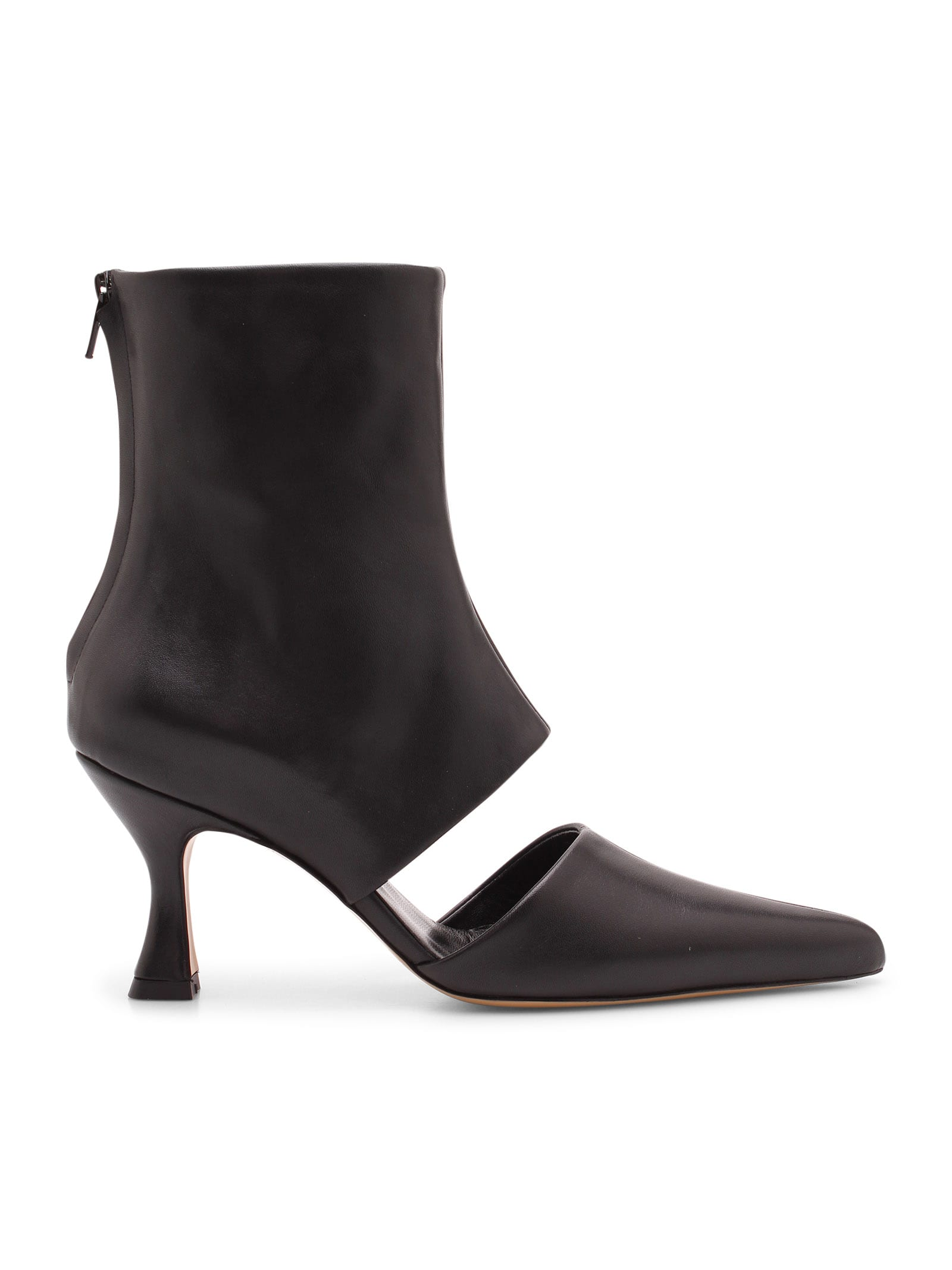 sys Leather Ankle Boots