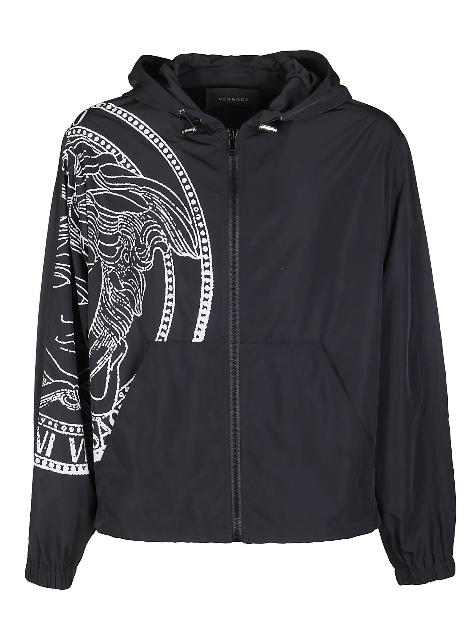 Versace Clothing BLACK RAINPROOF JACKET