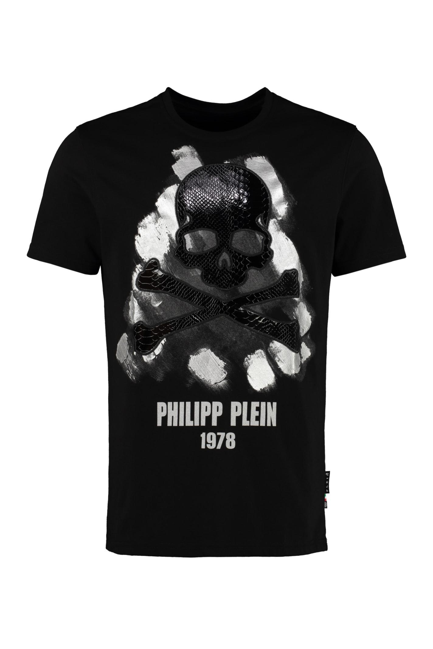philipp plein skull print t shirt, Philipp Plein 'Superstar