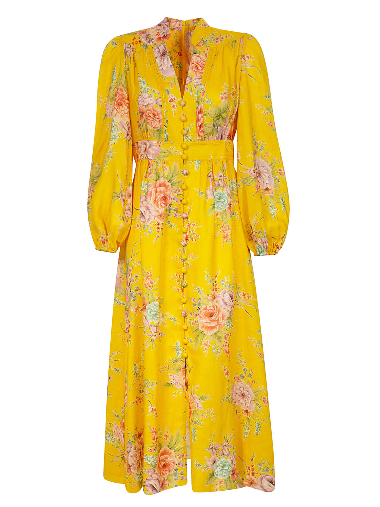 Buy Zimmermann Button Front Maxi Dress online, shop Zimmermann with free shipping