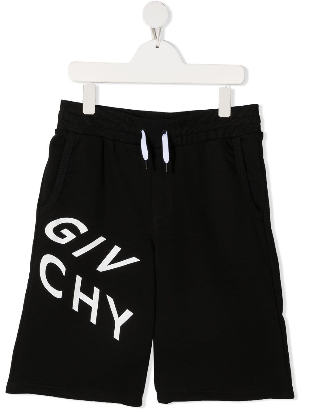 Givenchy JERSEY BERMUDA WITH CONTRASTING LOGO PRINT