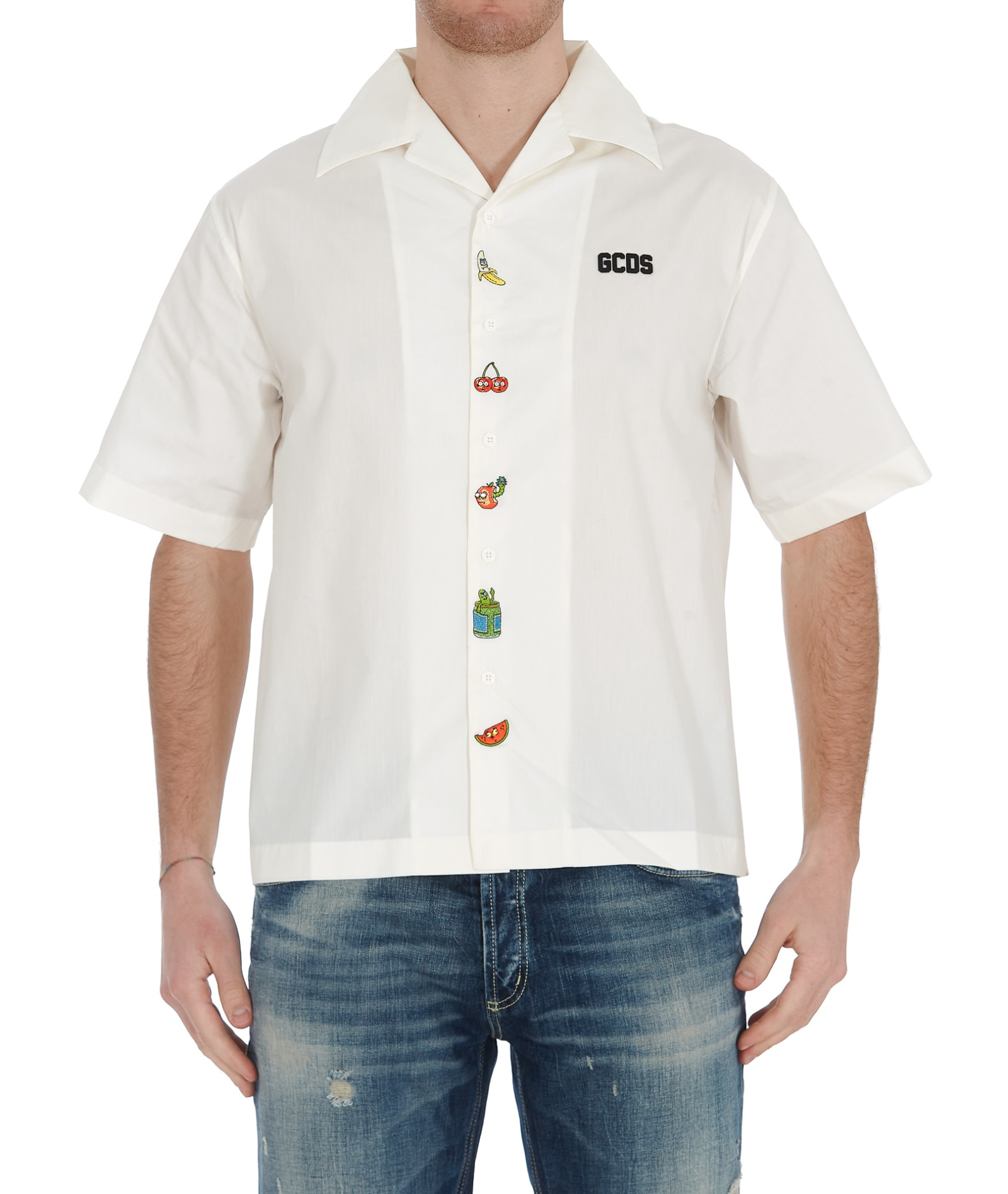 Gcds Cottons GCDS RICK & MORTY BOWLING SHIRT