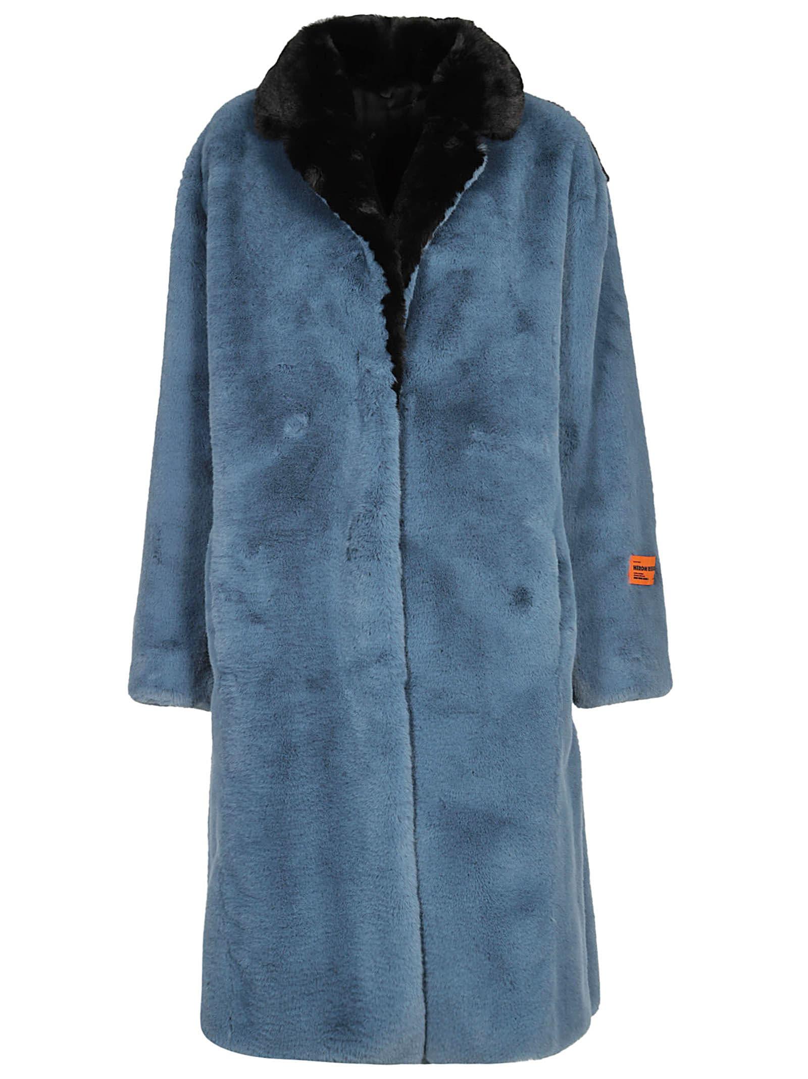 HERON PRESTON Concealed Front Coat