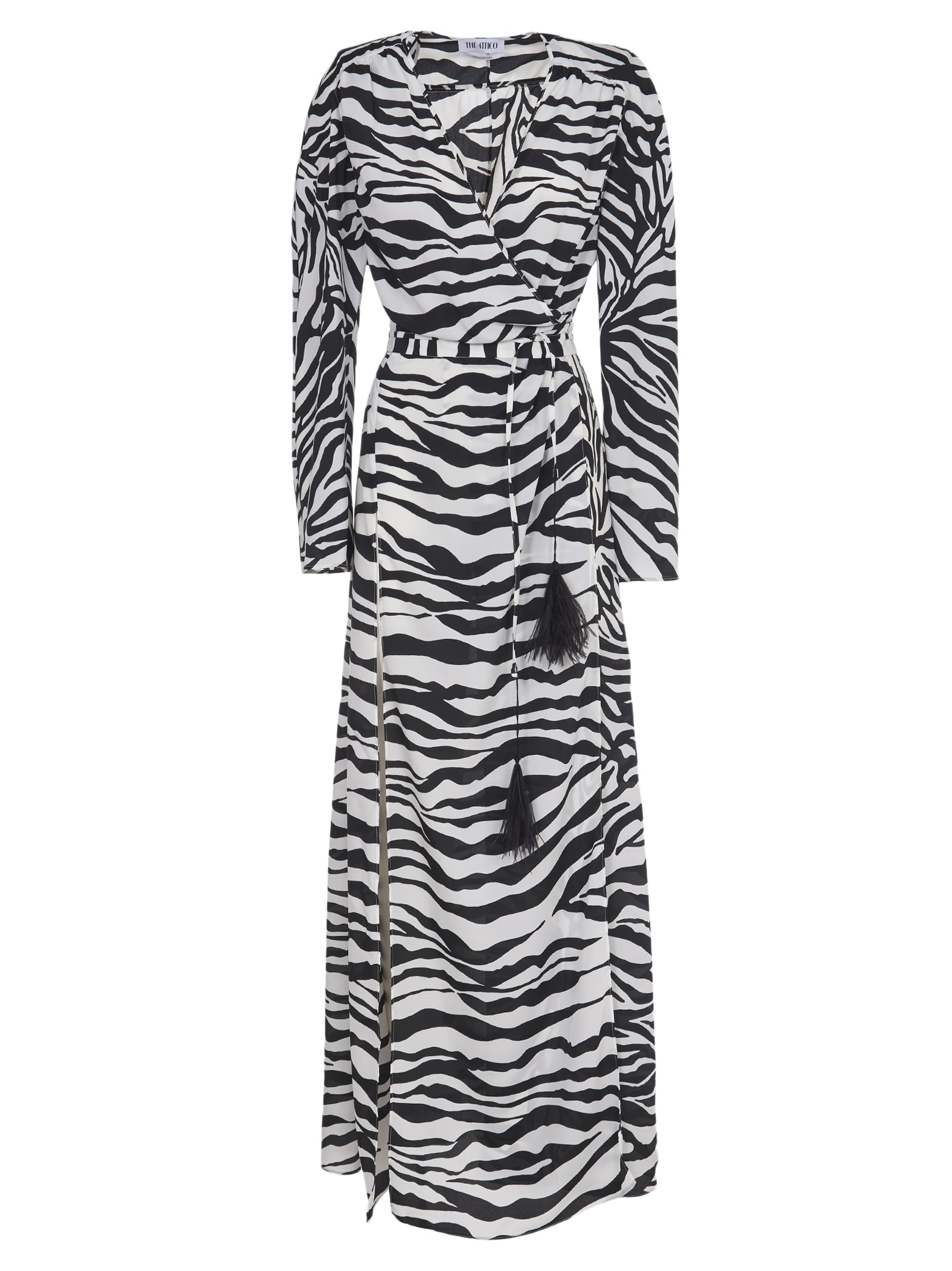 Buy The Attico Black And White Maxi Dress online, shop The Attico with free shipping