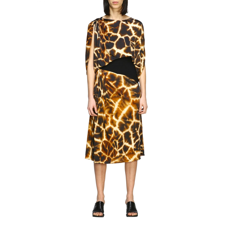 Buy Roberto Cavalli Dress Roberto Cavalli Jersey Dress With Giraffe Print online, shop Roberto Cavalli with free shipping