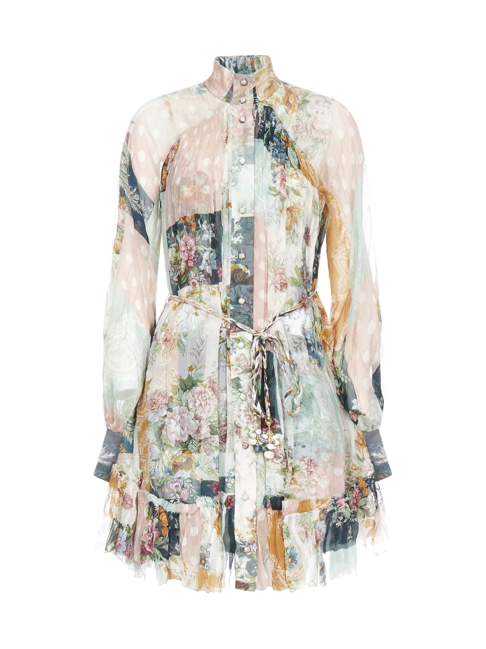 Buy Zimmermann Wavelength Smock Mini Dress online, shop Zimmermann with free shipping
